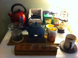 NanoWriMo Tea Station