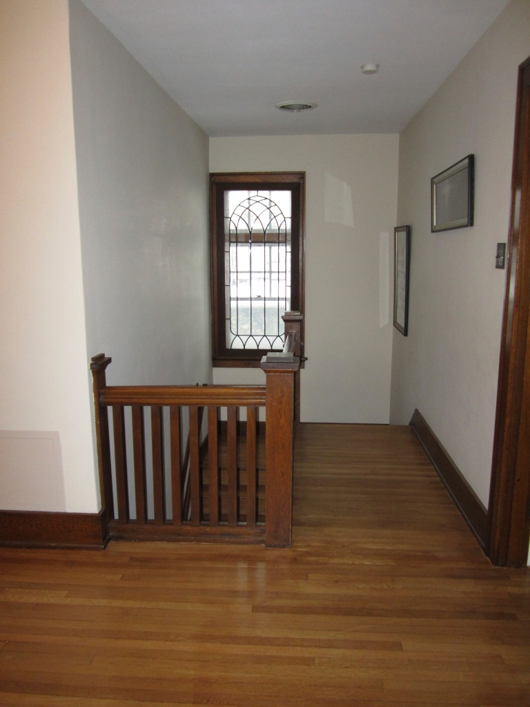 And the large wood hallways and leaded glass windows