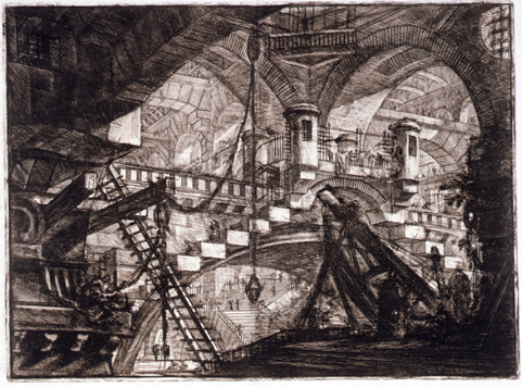 Carceri d'invenzione by Giovanni Battista Piranesi (1750)